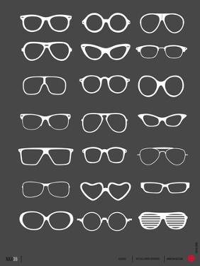 Glasses Poster II by NaxArt