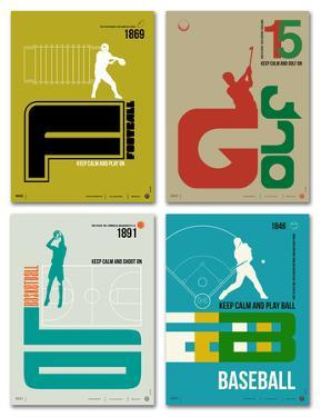 Graphic Sport Poster Set by NaxArt