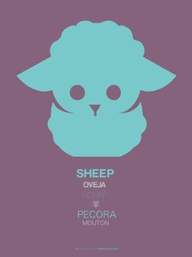 Green Sheep Multilingual Poster by NaxArt
