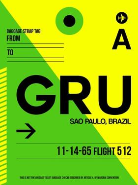 GRU Sao Paulo Luggage Tag I by NaxArt