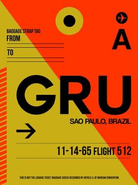 GRU Sao Paulo Luggage Tag II by NaxArt