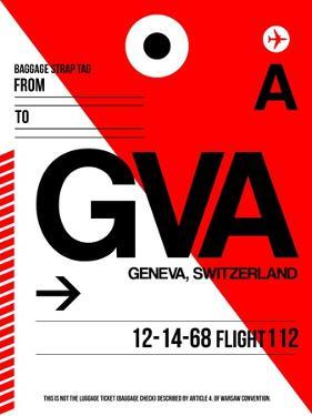 GVA Geneva Luggage Tag I by NaxArt
