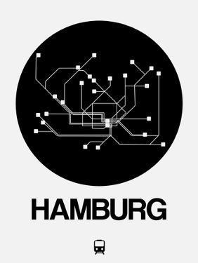 Hamburg Black Subway Map by NaxArt