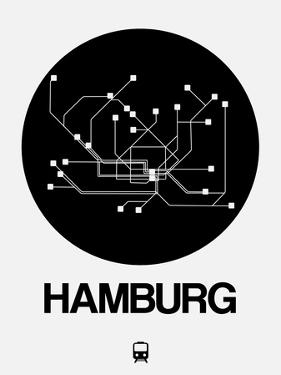 Hamburg Black Subway Map by NaxArt