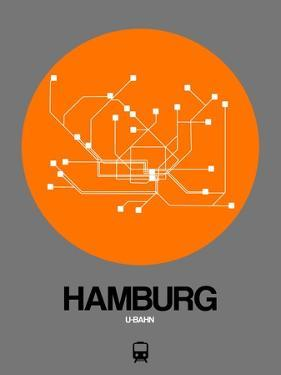 Hamburg Orange Subway Map by NaxArt