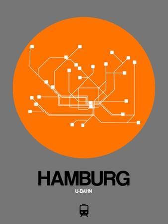 Hamburg Orange Subway Map by NaxArt