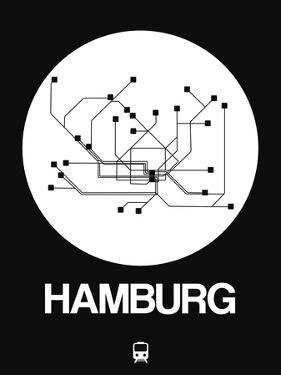 Hamburg White Subway Map by NaxArt