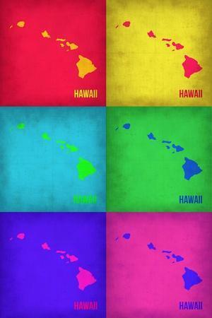 Hawaii Pop Art Map 1