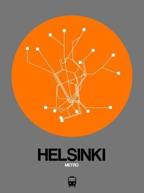 Helsinki Orange Subway Map by NaxArt
