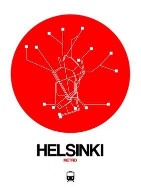 Helsinki Red Subway Map by NaxArt
