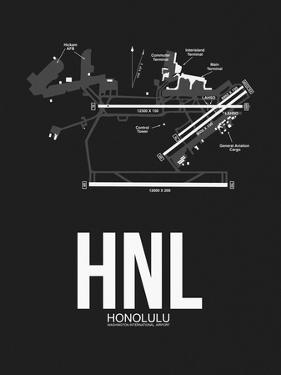 HNL Honolulu Airport Black by NaxArt