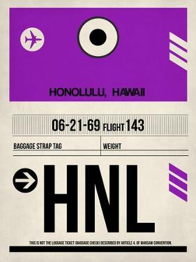 HNL Honolulu Luggage Tag I by NaxArt