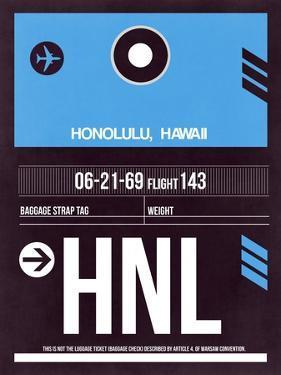 HNL Honolulu Luggage Tag II by NaxArt