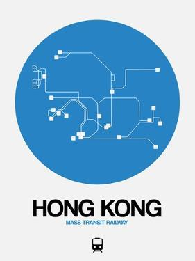 Hong Kong Blue Subway Map by NaxArt