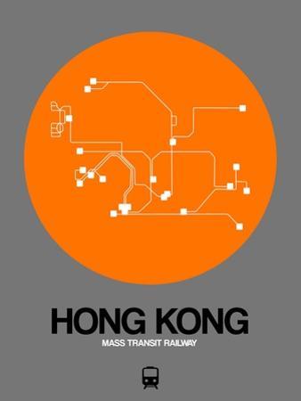 Hong Kong Orange Subway Map by NaxArt