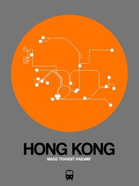 Hong Kong Orange Subway Map by NaxArt