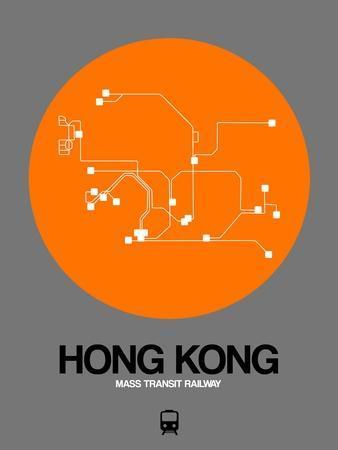 Hong Kong Orange Subway Map