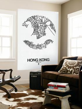 Hong Kong Street Map White by NaxArt