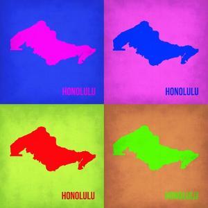 Honolulu Pop Art Map 1 by NaxArt