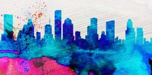 Houston City Skyline by NaxArt