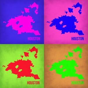 Houston Pop Art Map 1 by NaxArt