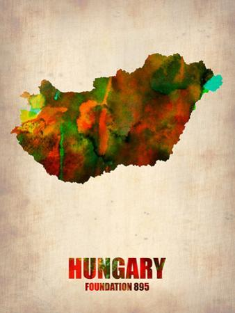 Hungary Watercolor Poster by NaxArt