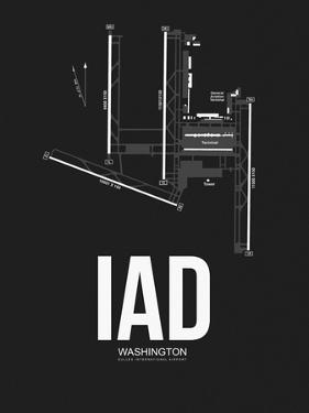 IAD Washington Airport Black by NaxArt