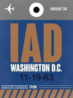 IAD Washington Luggage Tag 2 by NaxArt