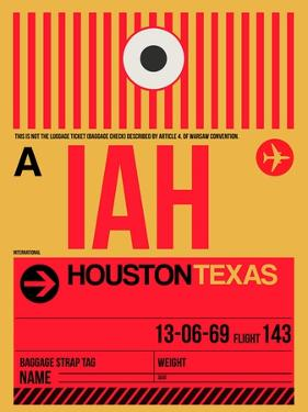 IAH Houston Luggage Tag 1 by NaxArt