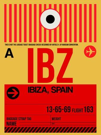 IBZ Ibiza Luggage Tag I by NaxArt