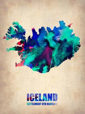 Iceland Watercolor Poster by NaxArt