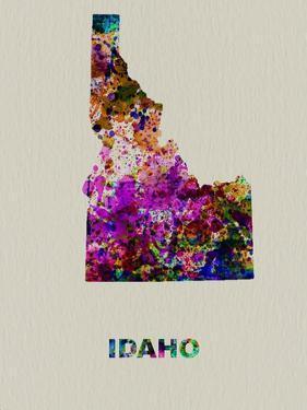 Idaho Color Splatter Map by NaxArt