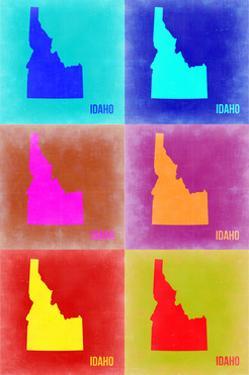 Idaho Pop Art Map 2 by NaxArt