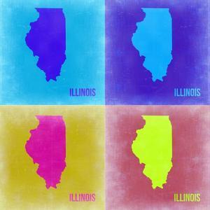 Illinois Pop Art Map 2 by NaxArt