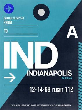 IND Indianapolis Luggage Tag 2 by NaxArt