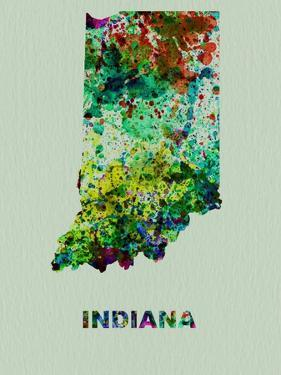 Indiana Color Splatter Map by NaxArt