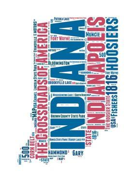 Indiana Word Cloud Map by NaxArt