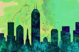Indianapolis City Skyline by NaxArt
