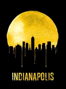Indianapolis Skyline Yellow by NaxArt