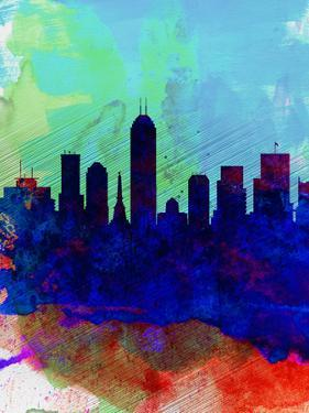 Indianapolis Watercolor Skyline by NaxArt
