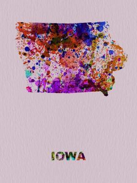 Iowa Color Splatter Map by NaxArt