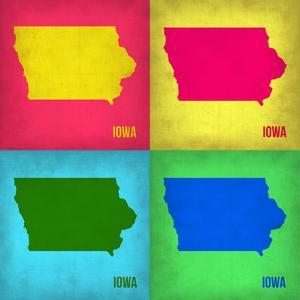 Iowa Pop Art Map 1 by NaxArt