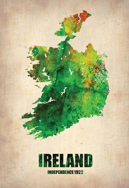 Ireland Watercolor Map by NaxArt
