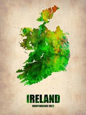 Ireland Watercolor Map by NaxArt