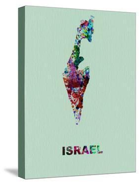 Israel Color Splatter Map by NaxArt