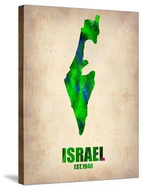 Israel Watercolor Map by NaxArt