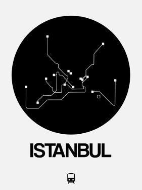 Istanbul Black Subway Map by NaxArt