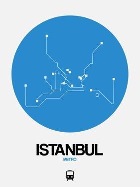 Istanbul Blue Subway Map by NaxArt