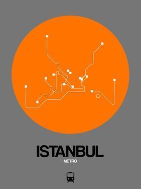 Istanbul Orange Subway Map by NaxArt