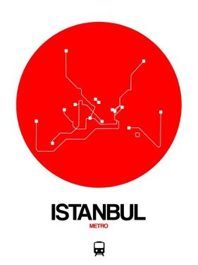 Istanbul Red Subway Map by NaxArt